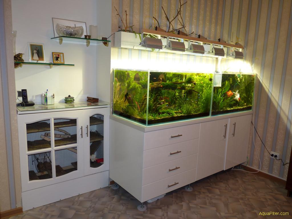 Полка для аквариума и цветов своими руками