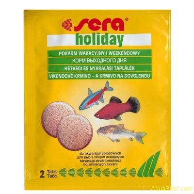 Корм Sera Holiday, корм «выходного дня», 2таб