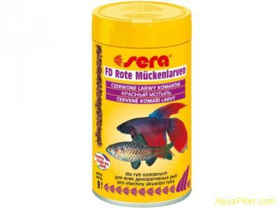 Корм Sera FD Bloodworms (красный мотыль), 100мл