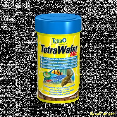 Корм TetraWafer Mix для плотоядных, травоядных и ракообразных донных рыб, 100мл