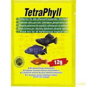 Корм TetraPhyll Flocken для всех травоядных рыб, 12г