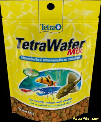 Корм Tetra WaferMix для плотоядных, травоядных и ракообразных донных рыб, 15 гр