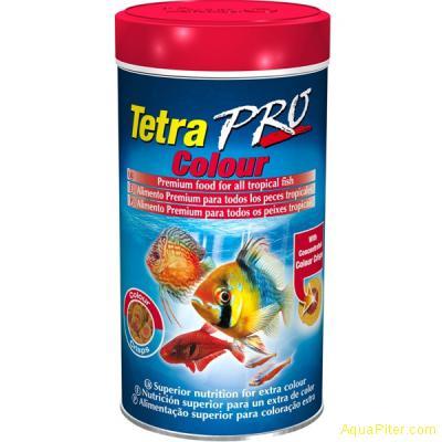 Корм TetraPRO Colour Crisps для усиления насыщенности окраса, 100мл