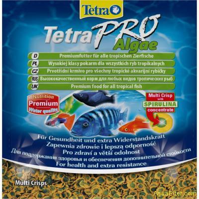 Корм Tetra Pro Algae Crisps для всех видов декоративных рыб, 12гр