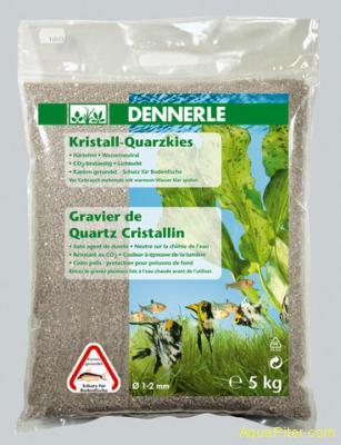 Аквариумный грунт Dennerle Kristall-Quarz, гравий фракции 1-2 мм, цвет светло-ко
