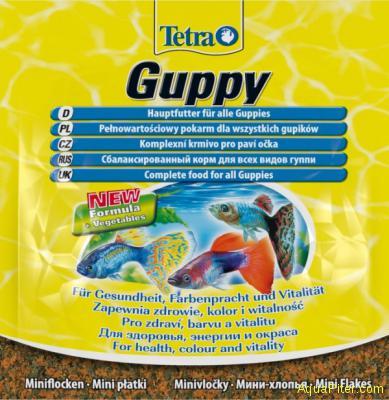 Корм основной Tetra Guppy Flakes для гуппи, 12гр