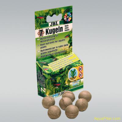 Удобрение JBL Die 7 Kugeln для корней растений в виде шариков, 7шт