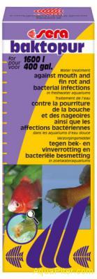 Средство SERA baktopur против бактериальных поражений рыб, 100мл