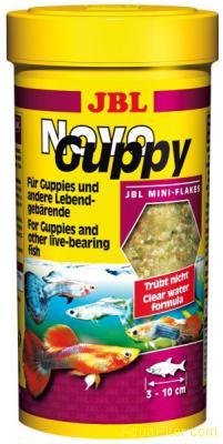 JBL NovoGuppy - Основной корм для гуппи и других живородящих, 250 мл.
