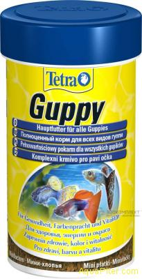 Корм основной Tetra Guppy Flakes для гуппи, 250мл