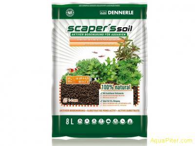 Грунт питательный Dennerle Scaper's Soil для растительных аквариумов, зерно 1-4