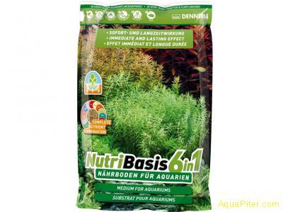 Грунтовая подкормка Dennerle NutriBasis 6in1 для аквариумных растений, пакет 4.8