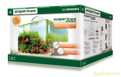 Аквариум Dennerle Scaper s Tank Complete Plus, 50л, панорамный