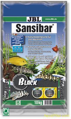 JBL Sansibar BLACK - Декоративный грунт для аквариума, черный, 10 кг
