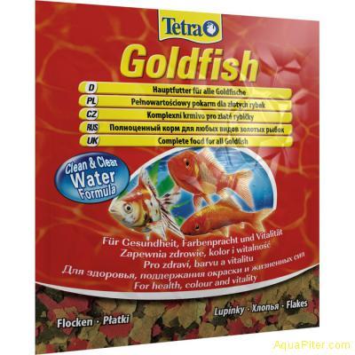 Корм Tetra Goldfish Floken для золотых и холодноводных рыб, 12г