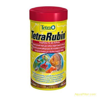 Корм Tetra Rubin Flocken для усиления насыщенности окраса, 250мл