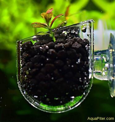 Горшочек на присоске для аквариумных растений