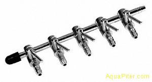 Флейта воздушная металлическая 5 краников