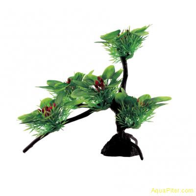 Композиция из искусственных растений на бонсае Буцефаландры широколистные 22