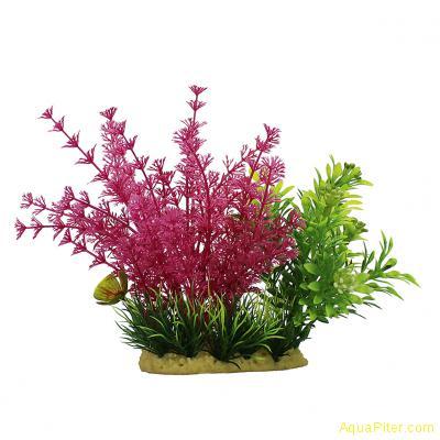 Композиция ArtUniq кабомба красная в миксе растений, 15см