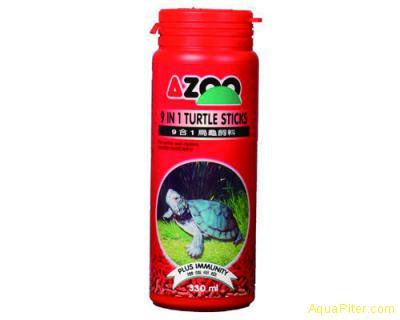 Корм AZOO 9 in 1 Turtle Stiks, палочки для черепах, 120мл
