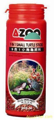 Корм AZOO 9 in 1 Small Turtle Stiks для молодых черепах, 330мл