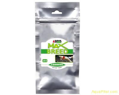 Корм AZOO MAX Breed пластинки для улучшения нереста креветок, 20г