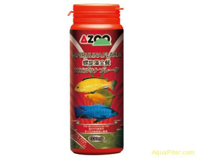 Корм AZOO 9 in 1 Spirulina Flake хлопья для декоративных рыбок, 120мл