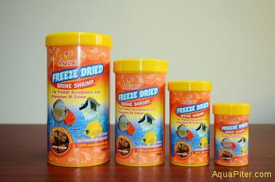 Корм AQUAV Freeze Dried Brine Shrimp артемия лиофилизированный, 250мл