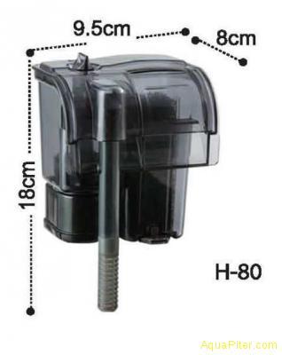 Фильтр навесной Dophin H-80 с регулятором