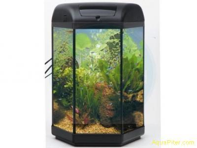 Aквариум Aquael HEXA SET 20L со встроенным фильтром и обогревателем