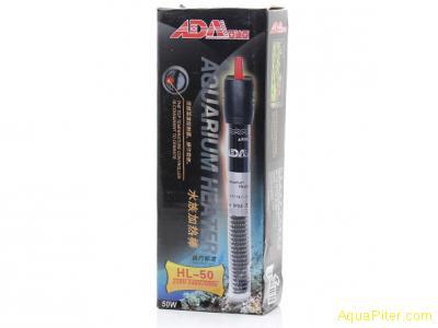 Нагреватель ADA HL-50 регулируемый, суперкороткий, 50Вт