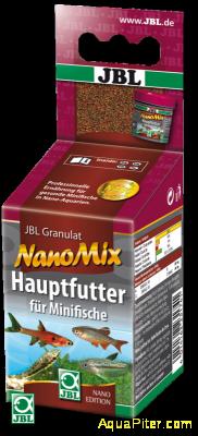 JBL NanoMix - Основной корм в форме мини-гранул для маленьких рыб в нано-аквариу