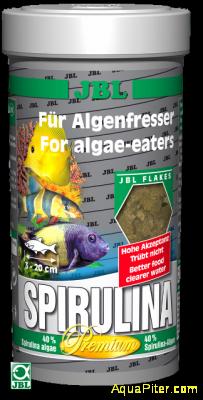 """Корм JBL Spirulina класса """"премиум"""" с высоким содержанием спирулины в форме хлоп"""