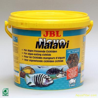 Корм JBL NovoMalawi в форме хлопьев для растительноядных цихлид, 5.5л