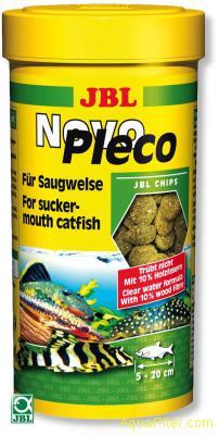 Корм JBL NovoPleco в виде водорослевых чипсов, 250мл (133г)
