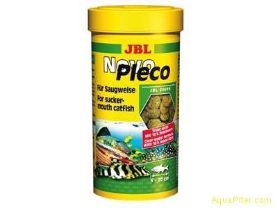 JBL NovoPleco  Водорослевые чипсы с примесью целлюлозы для кольчужных сомов 100