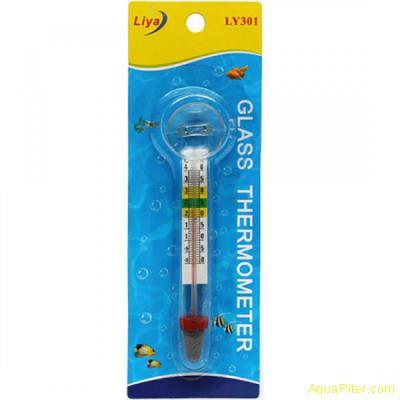 Термометр стеклянный толстый с присоской Glass Termometr (Blister card) (KW)