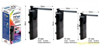 Фильтр внутренний угловой Dophin TF-300 с регулятором и дождиком, 4.5Вт, 300л/ч