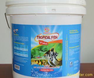 Корм AQUAV Tropical Fish Flakes хлопья для всех видов тропических рыб, 10000мл