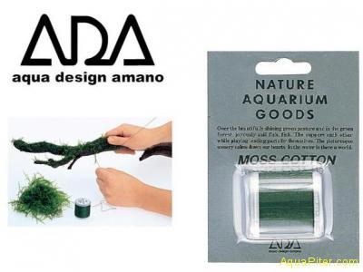ADA Moss Cotton - Хлопковая нить для крепления мхов 200 м