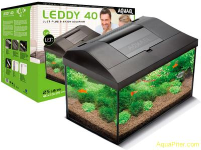 Аквариум AQUAEL LEDDY SET 25л, черный