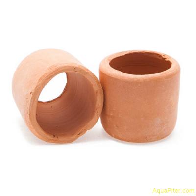Керамический горшок для растений малый