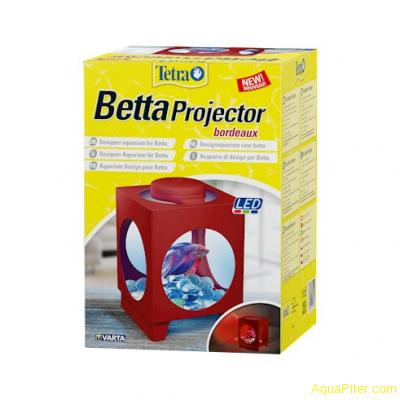 Аквариум Tetra Betta Projector бордовый 1.8 литра