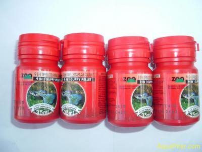 Корм AZOO 9 in 1 Guppy Pellet гранулы для гуппи и др. живородящих, 35мл