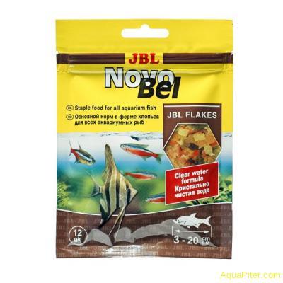 Корм основной JBL NovoBel в форме хлопьев для пресноводных аквариумных рыб, 12г