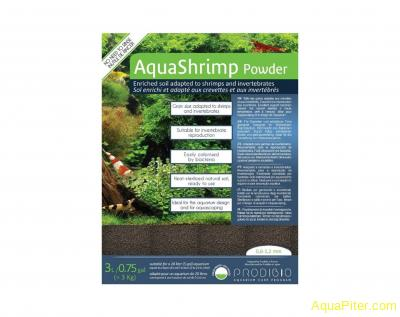 Грунт PRODIBIO AquaShrimp Powder для креветок и беспозвоночных, 3л, фракция 0.6-