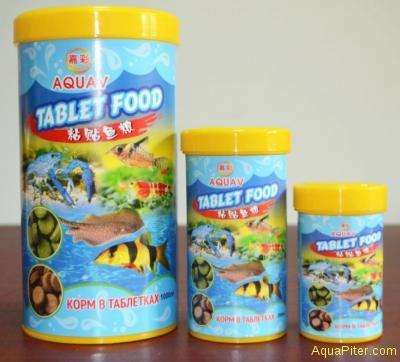 Корм AQUAV Tablet Food, таблетки для донных рыб