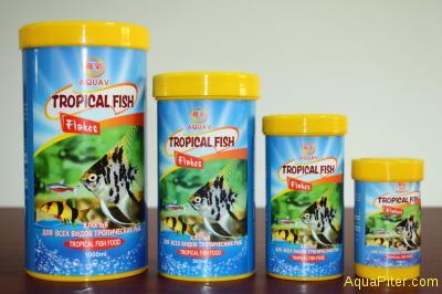 Корм AQUAV Tropical Fish Flakes, хлопья для всех видов троп. рыб, 250мл