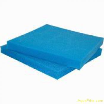 Губка листовая крупнопористая, синяя, 50х50х10см